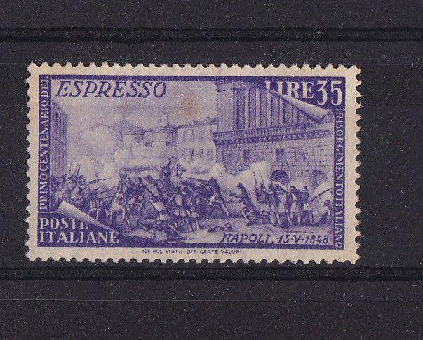 francobollo espresso centenario del risorgimento 1948
