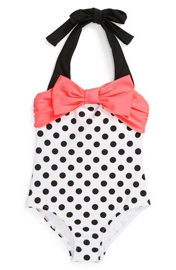 Love U Lots Polka Dot One-Piece Swimsuit (Baby Girls)(Online Only) available at #Nordstrom