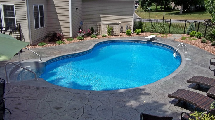 24 best images about pool ideas on pinterest swimming for Pool shapes with spa
