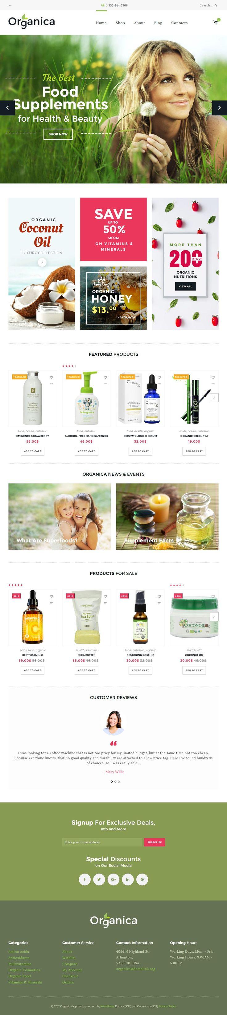 Organica is Premium full Responsive #WordPress Theme. If you like this #WooCommerce Theme visit our handpicked list of best #OrganicFood Themes at: http://www.responsivemiracle.com/best-wordpress-organic-food-theme/ Está farto de procurar por templates WordPress? Fizemos um E-Book GRATUITO com OS 150 MELHORES TEMPLATES WORDPRESS. Clique aqui http://www.estrategiadigital.pt/150-melhores-templates-wordpress/ para fazer download imediato!