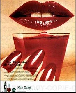 Mary Quant ad for the lipstick colour 'Bloody Mary'