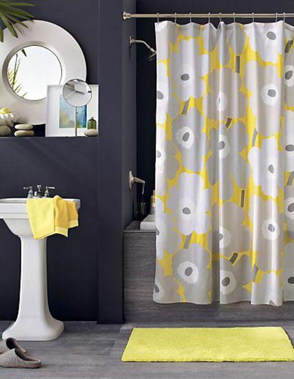 Wunderschönes Badezimmer Dunkelgrau Gelb