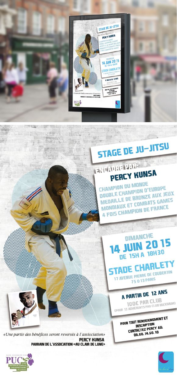 Promotion stage ju-jitsu affiche. #sport #ju-jitsu #affiche
