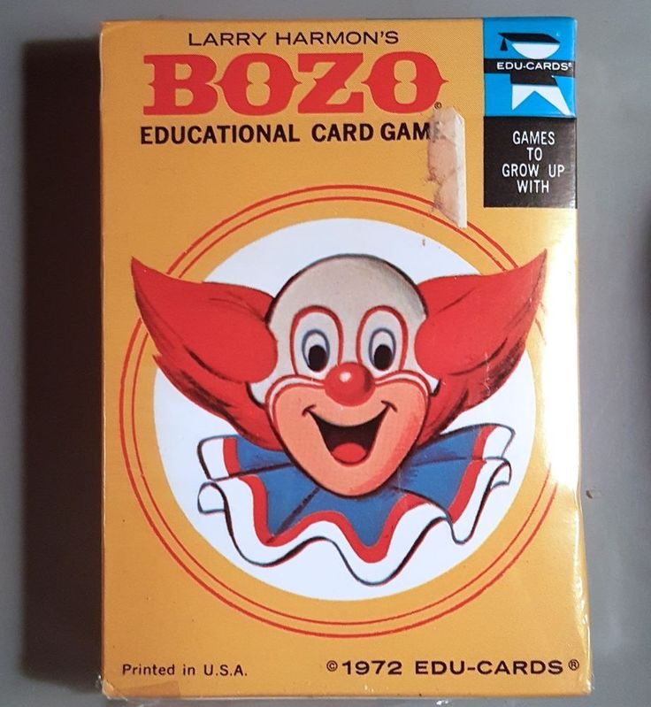Vintage Bozo the Clown Edu-Cards 1972 Sealed Larry Harmon Pictures Corp TV Show #EDUCARDS #Bozo #clown