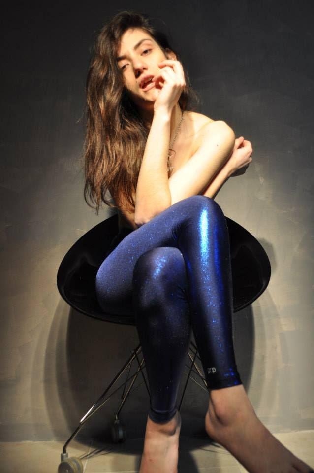 blue glitter leggings