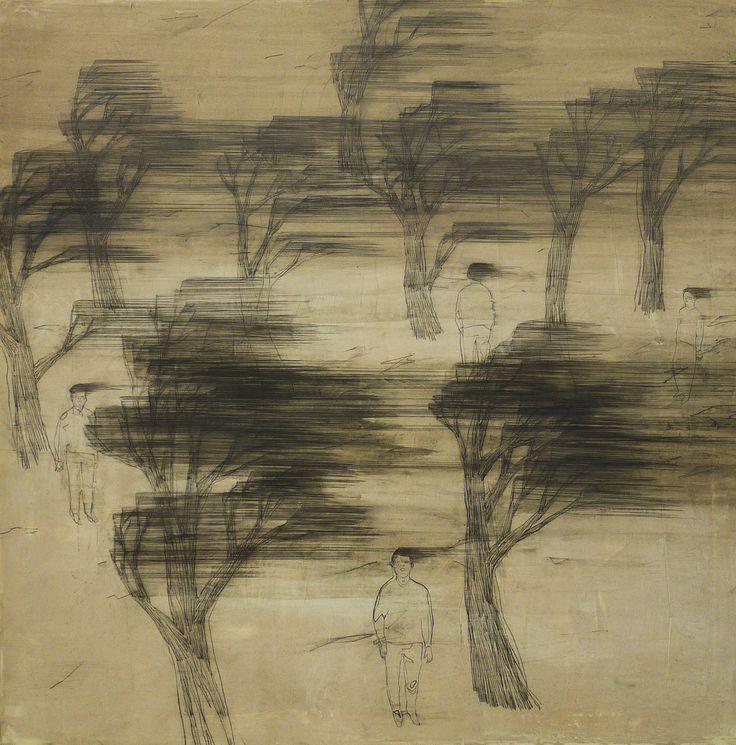 Wang Tzu-Ting, Big Wind (2010), acrylic and pencil on canvas