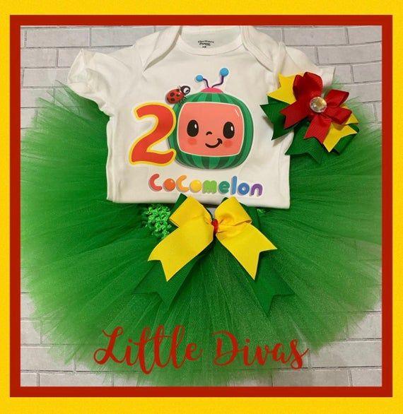 Cocomelon Tutu Cocomelon Shirt Cocomelon Cocomelon Party Coco Melon Outfit Coco Melon Birthday In 2020 2nd Birthday Birthday Baby Time