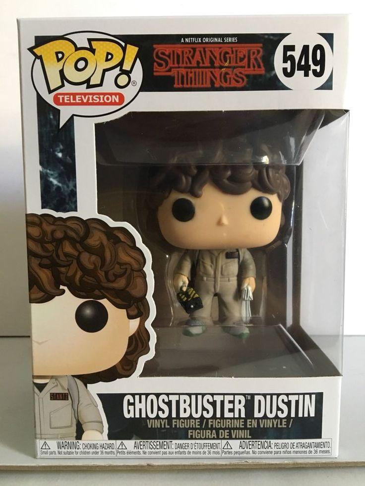 Funko POP! Stranger Things GHOSTBUSTER DUSTIN 549 Vinyl Figure New in hand    eBay
