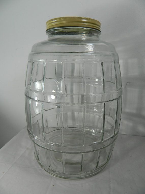 Vintage Pickle Jar Pickle Jar with Lid  by 3sisterstreasures, $59.99 - nice but mine is nicer....it has a zinc lid with a handle attached....and I didn't pay $60. for it.