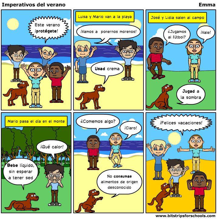 Practicar el imperativo con cómics