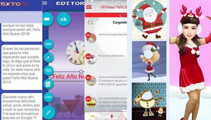 Apps para crear felicitaciones de Navidad y Año Nuevo y enviarlas por Whatsapp, vídeo o postal