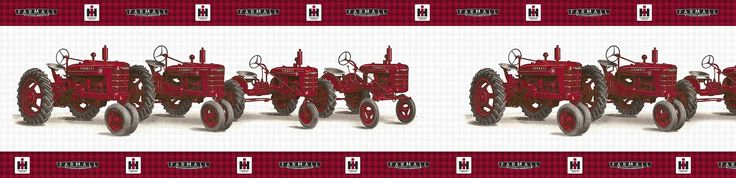 Pin by j d productions inc on tractor home decor pinterest - Farmall tractor wallpaper border ...