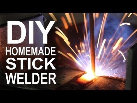 Here's an awesome stick welder from old microwave parts.