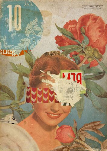 Kareem Rizk & Eduardo Recife ~ Misprinted Type collaboration. Digital collage (created in Photoshop using scanned papers and found imagery).