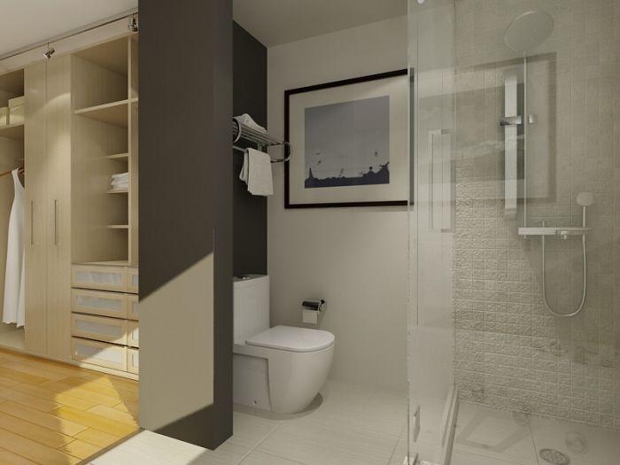 pictures of large bathrooms with closet   Free Bathroom Plan Design Ideas – Master Bathroom Design 9×18 Size