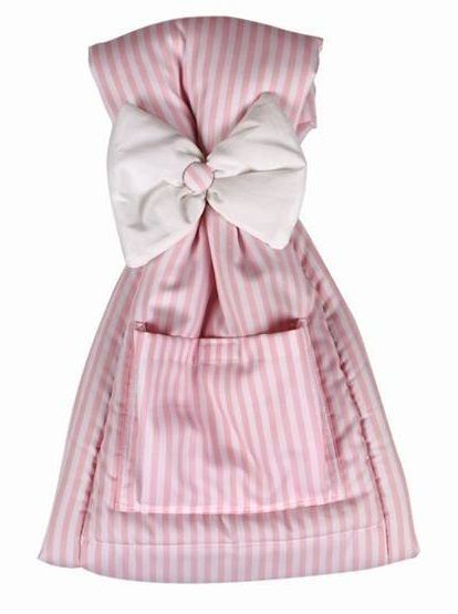 Πυτζαμοθήκη Ριγέ Λευκό-Ροζ/Pajama Holder Bow Pink Stripe