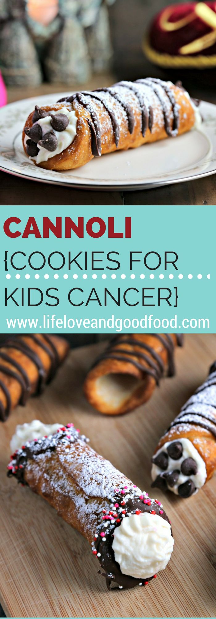 Cannoli | Cookies for Kids' Cancer Valentine Project #helpingcookies | Life, Love, and Good Food