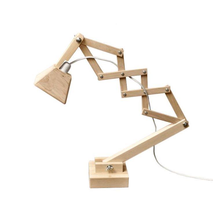 Bureaulamp /// Hout /// Model 1