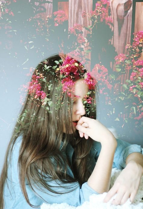 57+ Trendy Blumen Fotografie Frau Doppelbelichtung