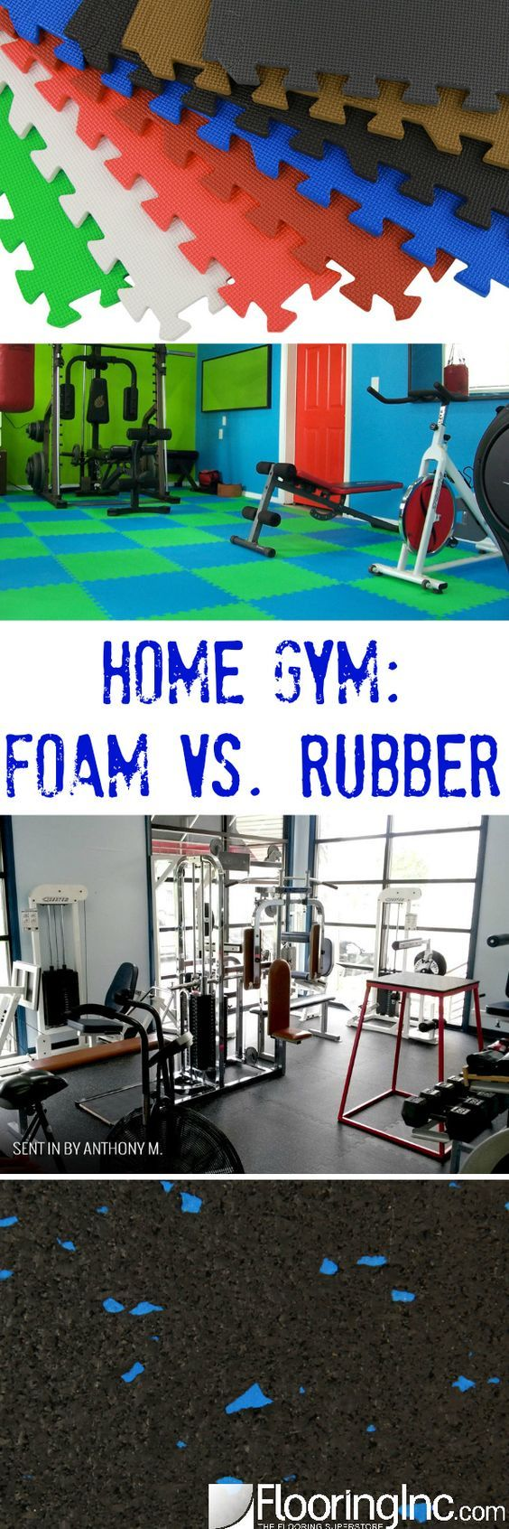 Rubber floor mats for garage gym - Home Gym Foam Vs Rubber Everything You Need To Choose The Right Floor For