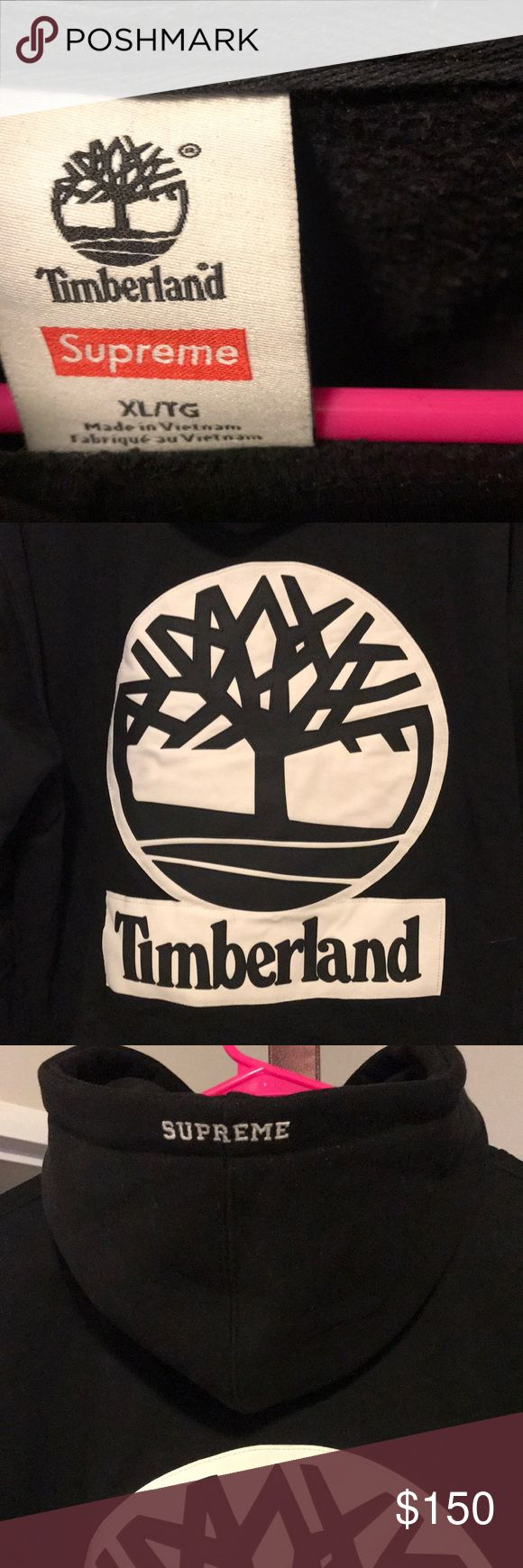 Supreme x timberland hoodie Some light stains will come out dryclean Supreme Sweaters