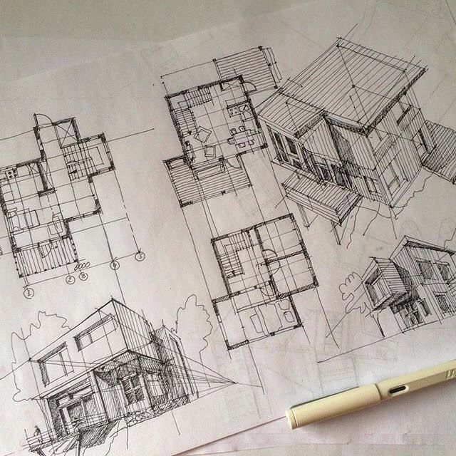 25 best ideas about architectural sketches on pinterest architecture drawing art. Black Bedroom Furniture Sets. Home Design Ideas