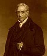 George Stephenson - inventor of the first steam locomotive engine for railroads.