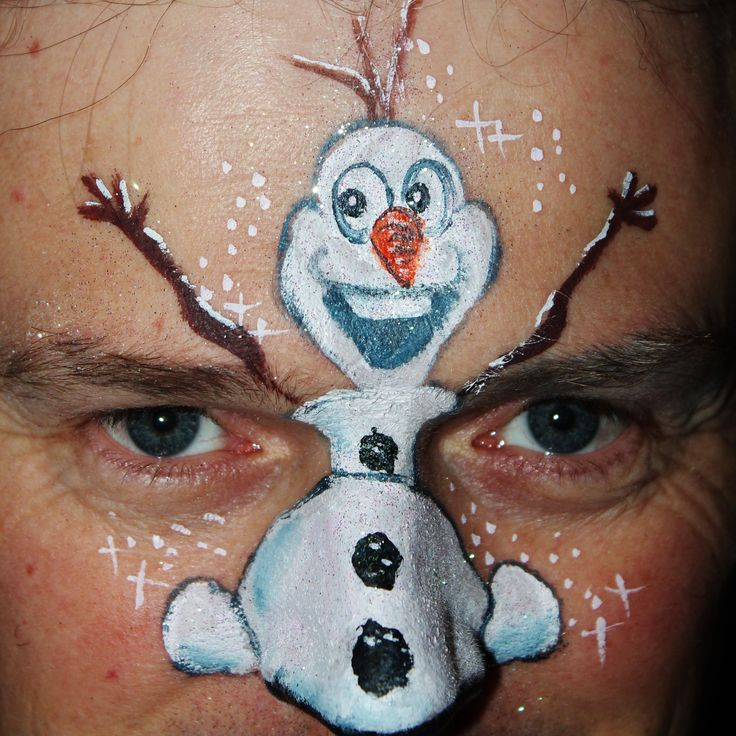 Frozen Olaf jumping on your nose - YC Art - Yvonne Zonnenberg