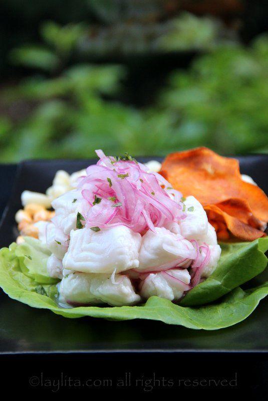 Ceviche de poisson, style péruvien