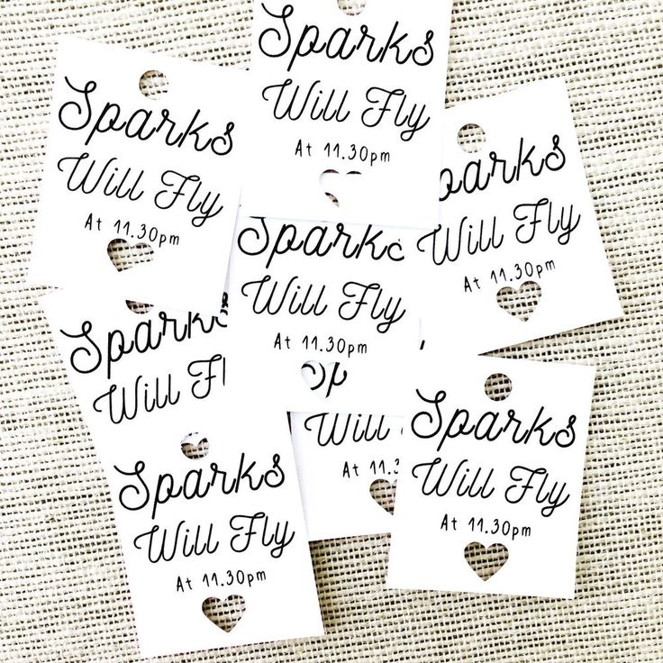 25 Sparks Will Fly Tags, Sparkler Tags, Wedding Day Tags, Tags For Sparklers | eBay