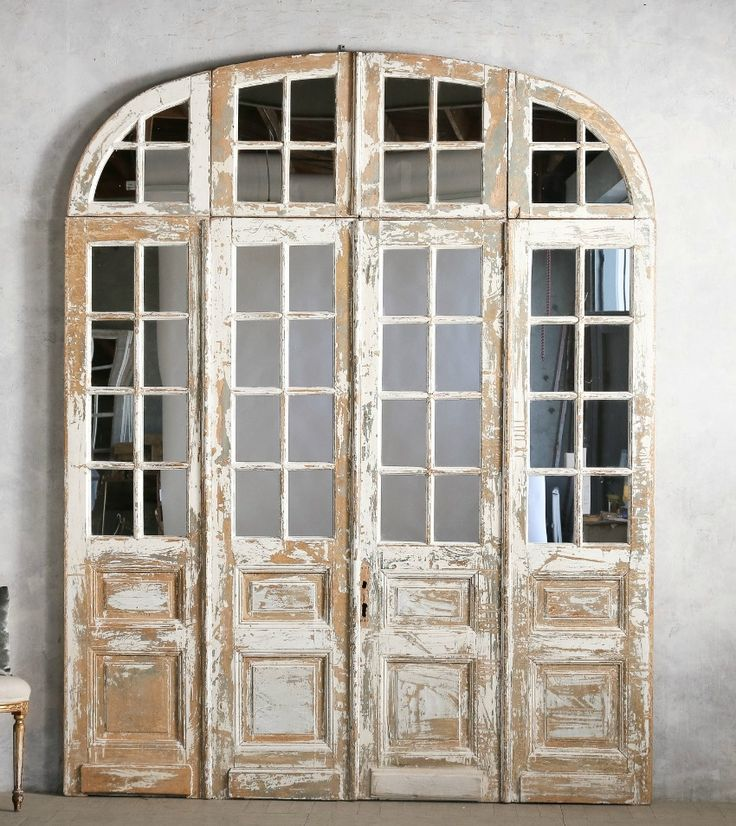 One Of A Kind Vintage Architectural Mirrored Arched Doors