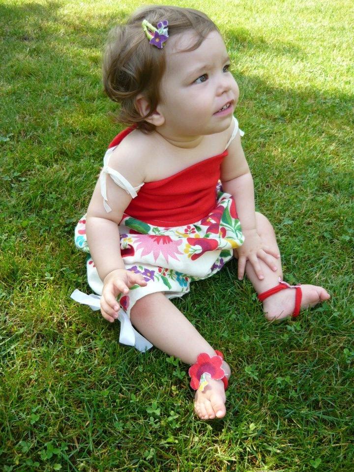 4az1ben Varázsruha - rugdalózó verzió/4in1 Multifunctional baby dress - as a romper here