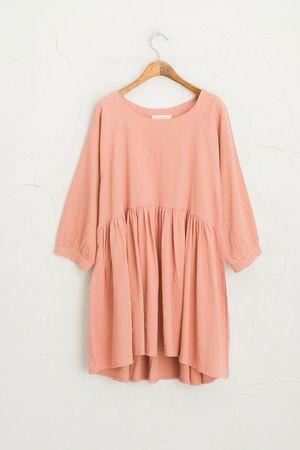 Linen Baby Doll Dress, Pink