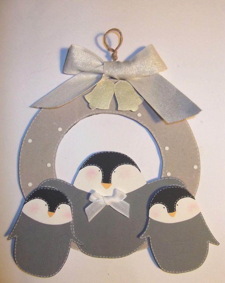 Stavolta ho scelto i piccoli di pinguino, quelli ancora di colore grigio e a pelo lungo :-) Prima ho realizzato le sagome dei pinguini, pro...