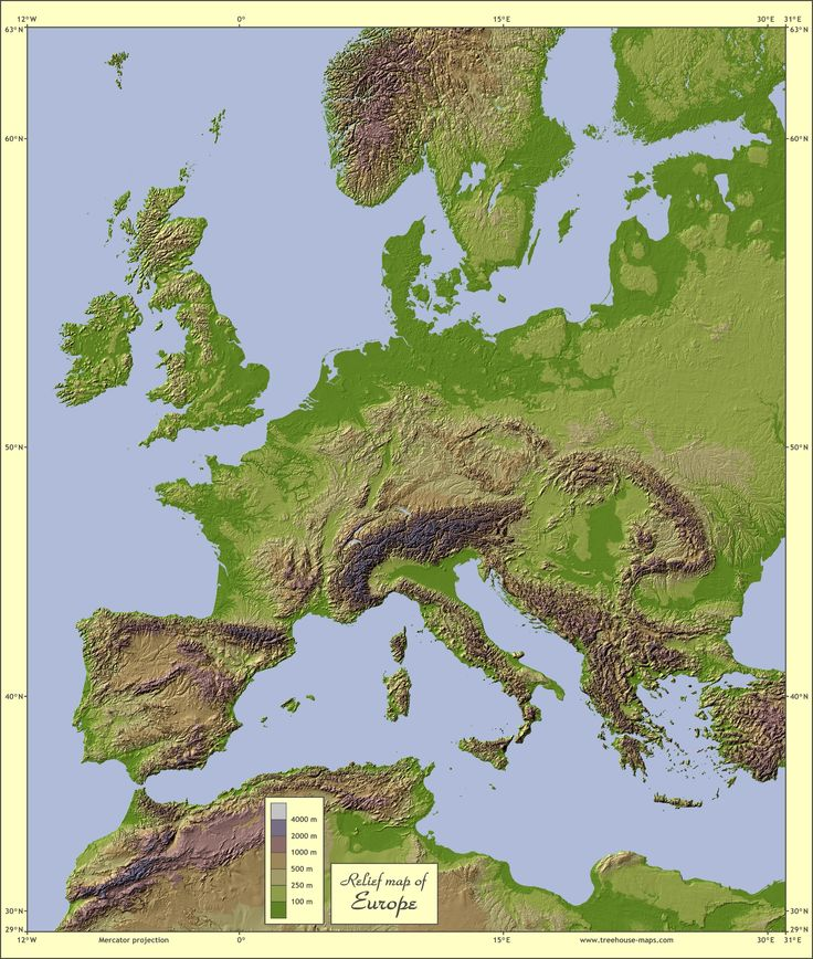Map Of Europe Russia Middle East%0A Relief map of Europe