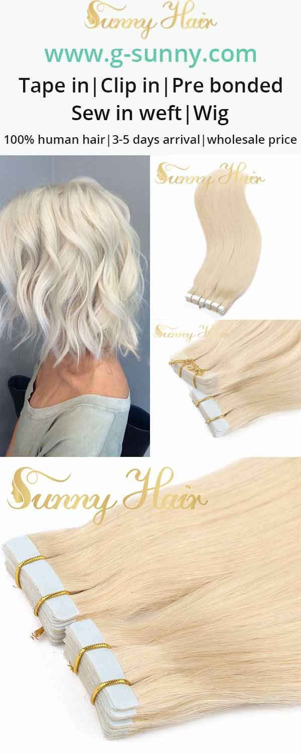 Sunny Hair tape in human hair extensions. blonde color hair . g-sunny.com