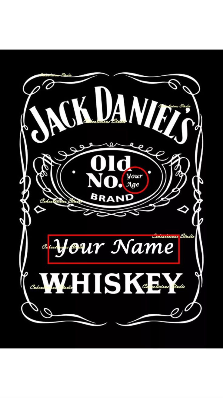 Personalised Edible Icing Sheet Jack Daniels Label Cake Topper A4 by CakealiciousStudio on Etsy