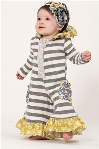 Baby Persnickety Clothing October Sky Pippy Romper in Grey Fall 2014 D2
