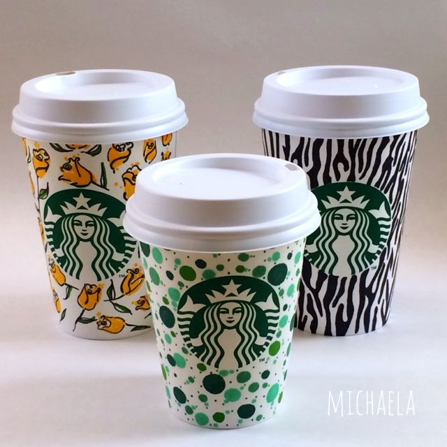Love this set of Starbucks cup art. | Cup Doodles and ...