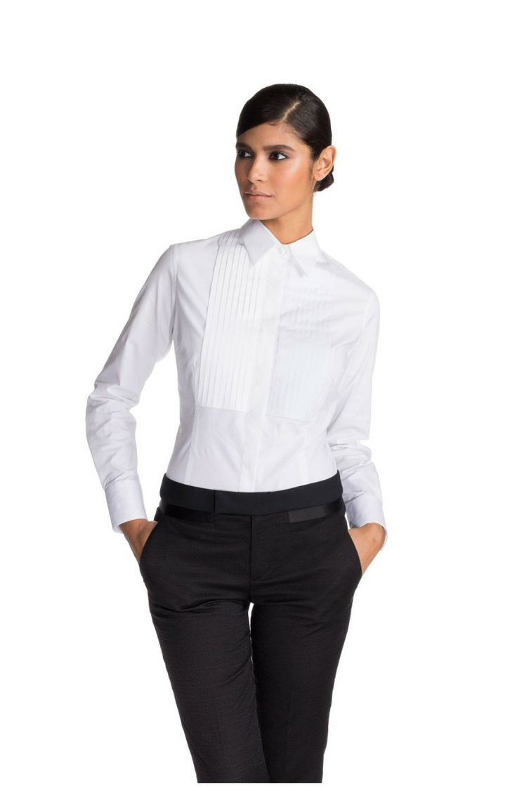 105 best clothing ideas women images on pinterest sew for Tuxedo shirt without studs