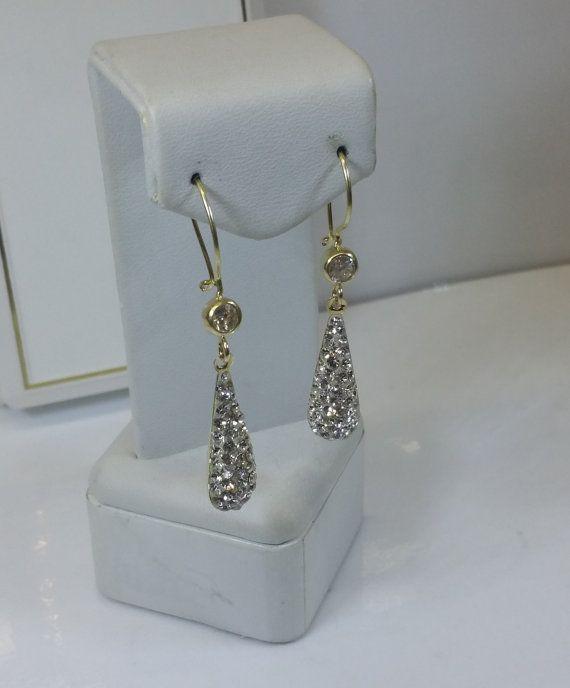 Ohrstecker Ohrringe Gold 333 Tropfen Kristalle von Schmuckbaron