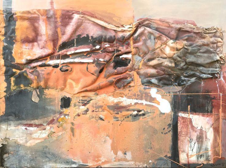 ELAINE d'ESTERRE - Detritus 2, 2003-2016, mixed media on board, 92x120 cm by Elaine d'Esterre at http://elainedesterreart.com and http://www.facebook.com/elainedesterreart/ and http://instagram.com/desterreart/