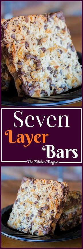 You can't go wrong with a classic seven layer bar recipe! Perfect for the holidays or just when you have a sweet tooth! Recipe from @kitchenmagpie #recipe #dessert #christmas #chocolate #coconut