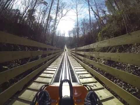 ▶ Smoky Mountain Alpine Coaster ROLLER COASTER POV Pigeon Forge Tennessee - YouTube