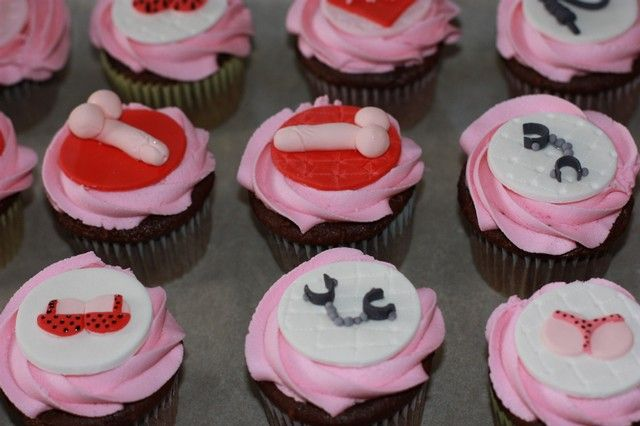 Bachelorette cupcakes,  50 Shades, S & M