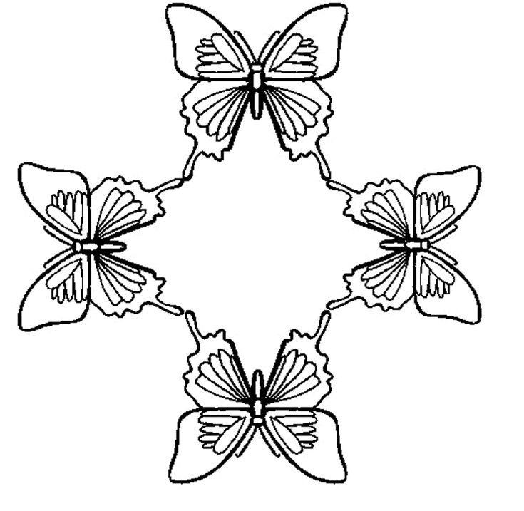Butterfly With Stars Printable Butterfly Coloring Pages