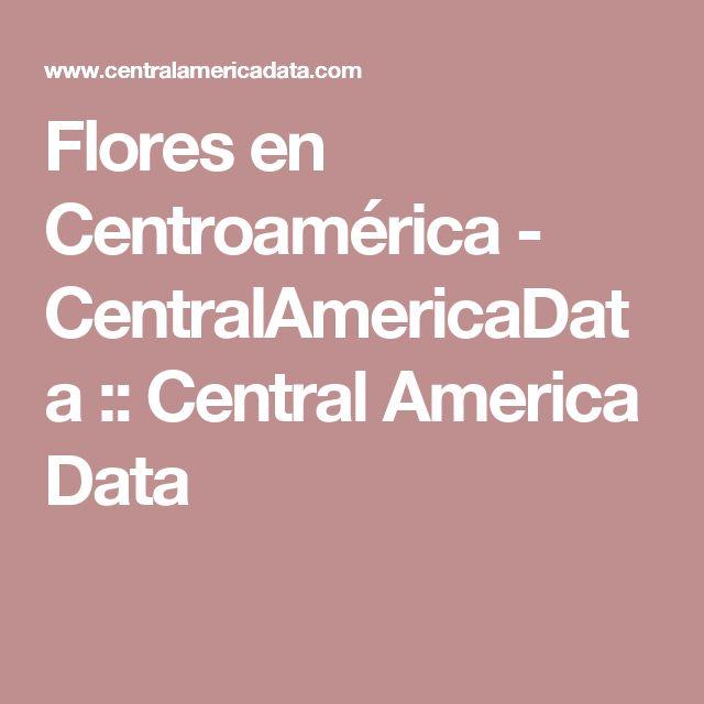 Flores  en Centroamérica - CentralAmericaData :: Central America Data