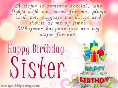 Best 20 Sister birthday wishes ideas – Happy Birthday Card for My Sister