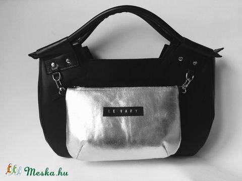 Bubble táska fekete-ezüst bőr (hegymegigabi) - Meska.hu