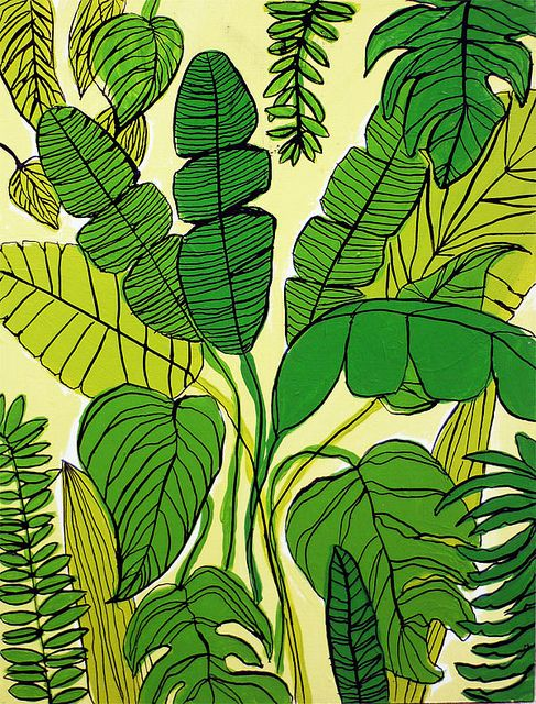 Jardin Tropical by • Miriam Brugmann • on Flickr. Perfect for tinting painting!